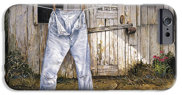 Barns Paintings iPhone Cases - Old Friends iPhone Case by Michael Humphries