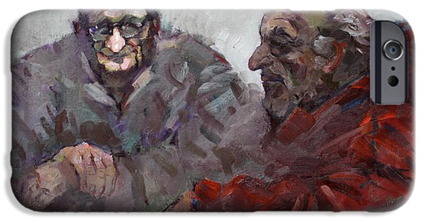 Talking iPhone Cases - Old Friends iPhone Case by Ylli Haruni
