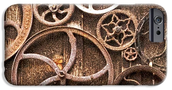 Genoa Bar iPhone Cases - Old Gears in Genoa Nevada iPhone Case by Artist and Photographer Laura Wrede