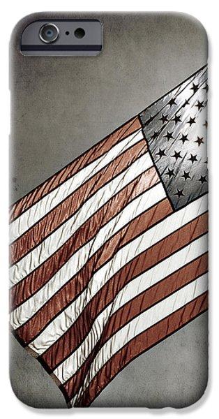 Old Glory - American Flag Photograph iPhone Case by Amelia Matarazzo