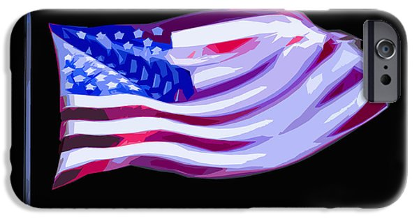 Patriots iPhone Cases - Old Glory 2 iPhone Case by Brian Stevens