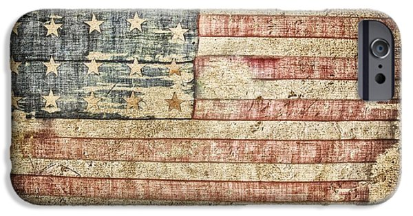 Fourth Of July Mixed Media iPhone Cases - Old Glory 20 Strars iPhone Case by Todd and candice Dailey