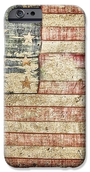 Old Glory 20 Strars iPhone Case by Todd and candice Dailey