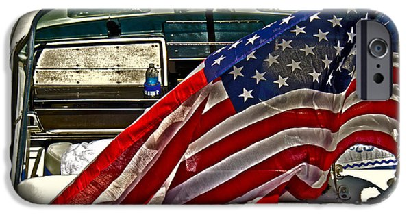 Patriots iPhone Cases - Old Glory And The Bay iPhone Case by Tom Gari Gallery-Three-Photography