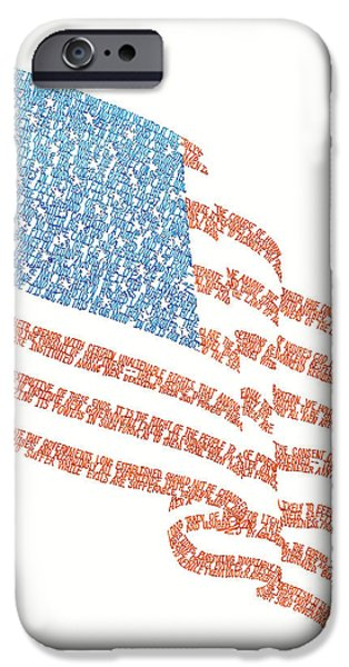 Old Glory Drawings iPhone Cases - Old Glory iPhone Case by Bethany Martin