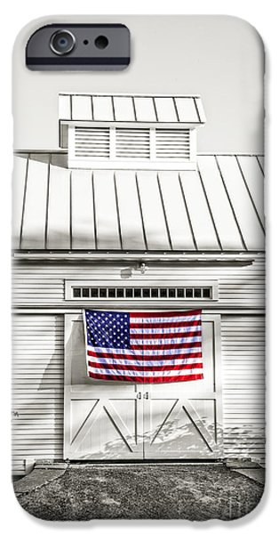 Tea Party iPhone Cases - Old Glory Circa 1776 iPhone Case by Edward Fielding