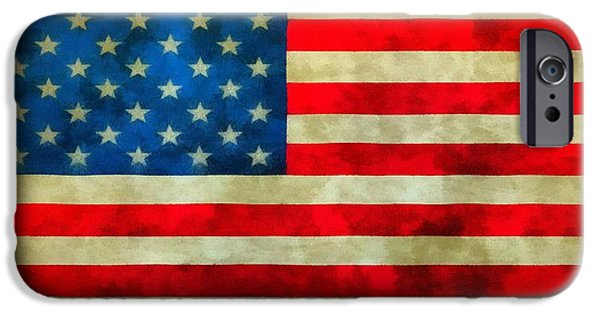 The Houses Mixed Media iPhone Cases - Old Glory iPhone Case by Dan Sproul
