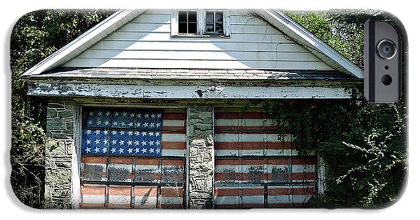 American Revolution iPhone Cases - Old Glory Garage  iPhone Case by Richard Reeve