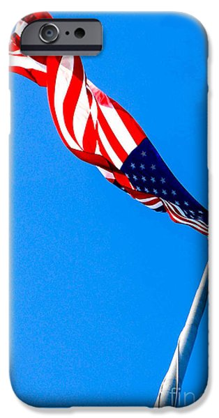 American Flag iPhone Cases - Old Glory HDR iPhone Case by Wesley Farnsworth