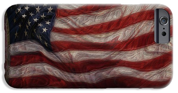 Old Glory iPhone Cases - Old Glory iPhone Case by Jack Zulli