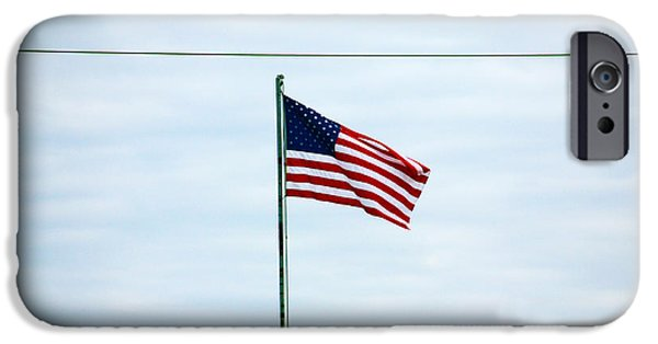 Baseball Glove iPhone Cases - Old Glory iPhone Case by Jeff Tuten