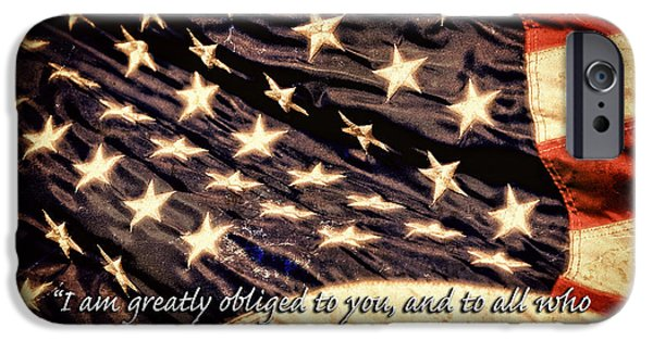 Old Glory iPhone Cases - Old Glory Military Tribute iPhone Case by Lincoln Rogers