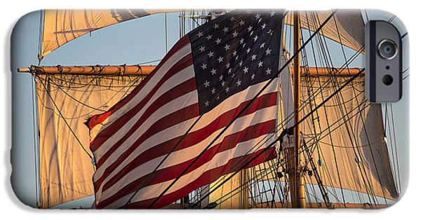 Bay Photographs iPhone Cases - Old Glory iPhone Case by Peter Tellone