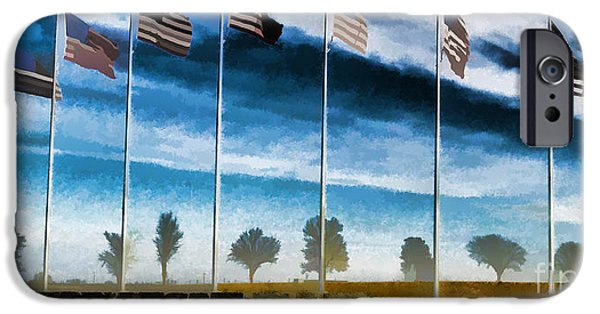 Patriotism iPhone Cases - Old Glory-The American Flag iPhone Case by Luther   Fine Art