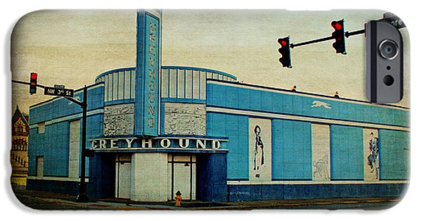 Evansville iPhone Cases - Old Greyhound Bus Station iPhone Case by Sandy Keeton
