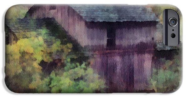 Grist Mill iPhone Cases - Old Grist Mill 01 Photo Art iPhone Case by Thomas Woolworth