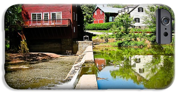 Grist Mill iPhone Cases - Old Grist Mill  iPhone Case by Colleen Kammerer
