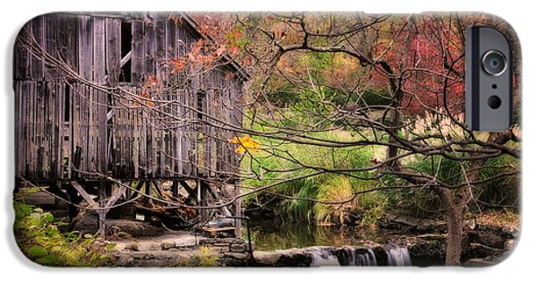 Grist Mill iPhone Cases - Old Grist Mill - Kent Connecticut iPhone Case by Thomas Schoeller