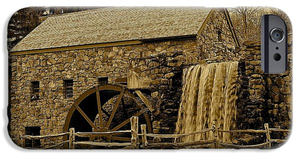 Sudbury Ma iPhone Cases - Old Grist Mill iPhone Case by Michael Saunders