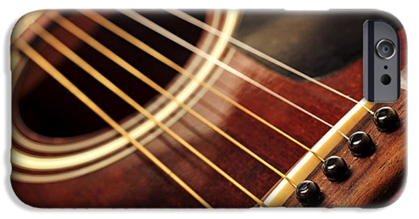 Neck iPhone Cases - Old guitar iPhone Case by Elena Elisseeva