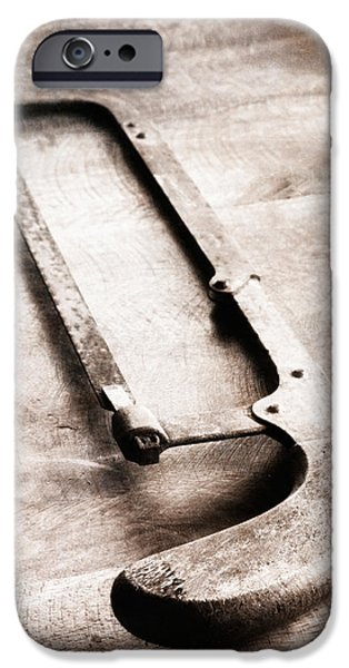 Work Tool iPhone Cases - Old Hacksaw iPhone Case by Wim Lanclus