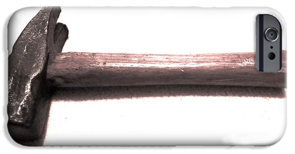 Work Tool iPhone Cases - Old Hammer Study 1 iPhone Case by Dwight Pinkley