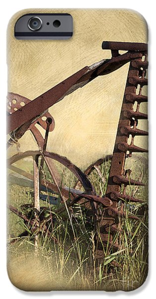 Machinery iPhone Cases - Old Harrow iPhone Case by Heiko Koehrer-Wagner
