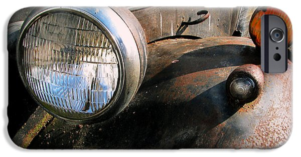Old Trucks Photographs iPhone Cases - Old Headlights iPhone Case by Colleen Kammerer