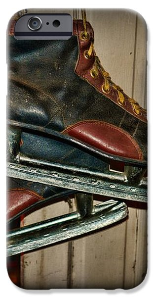 Old Hockey Skates iPhone Case by Paul Ward