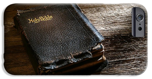 Bible Photographs iPhone Cases - Old Holy Bible iPhone Case by Olivier Le Queinec