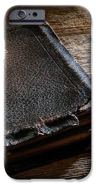 Old Holy Bible iPhone Case by Olivier Le Queinec