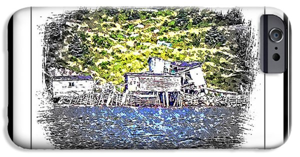Buildings By The Ocean iPhone Cases - Old Homestead by the Sea iPhone Case by Barbara Griffin