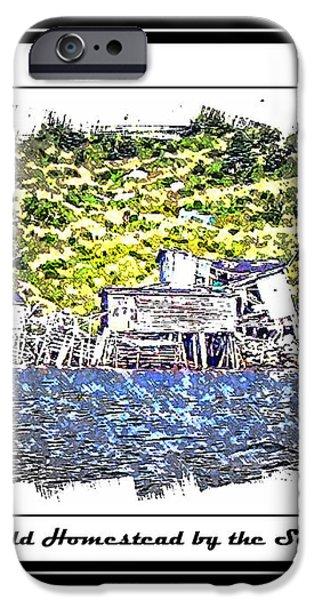 Old Homestead by the Sea iPhone Case by Barbara Griffin