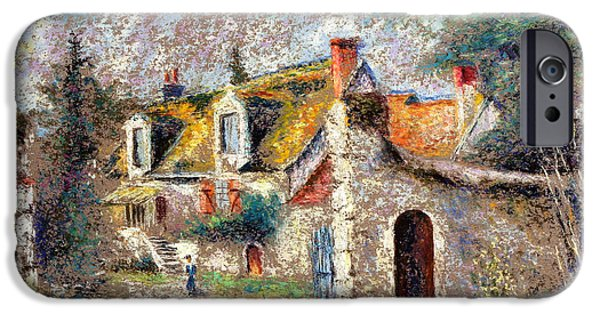 Village iPhone Cases - Old House In Esvres iPhone Case by Pierre VALLON