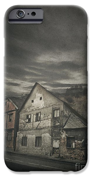 Village Pyrography iPhone Cases - Old House iPhone Case by Jelena Jovanovic