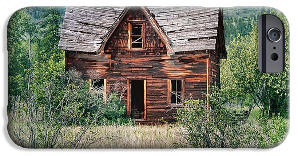 Cabin Window iPhone Cases - Old House iPhone Case by Naman Imagery