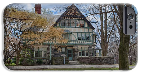 Haverford iPhone Cases - Old House on Haverford Campus iPhone Case by Kay Pickens