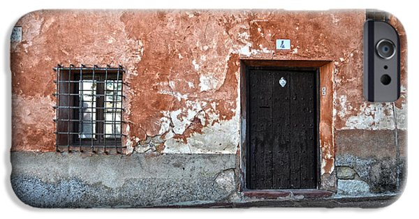 Antique Ironwork iPhone Cases - Old house over cobbled ground iPhone Case by RicardMN Photography