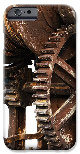 Cog Wheels iPhone Cases - Old industry iPhone Case by Sinisa Botas