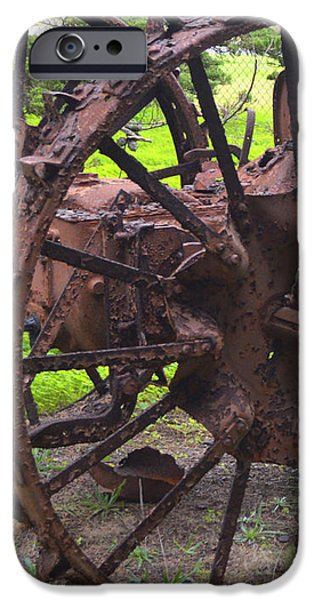 Old Iron Detail 2 iPhone Case by Barbara Snyder
