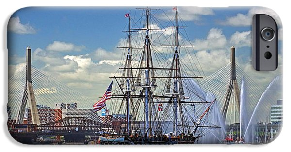 Constitution iPhone Cases - Old Ironsides 1010A iPhone Case by Jeff Stallard
