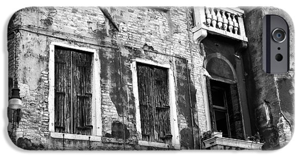 Venetian Balcony iPhone Cases - Old is New in Venice iPhone Case by John Rizzuto