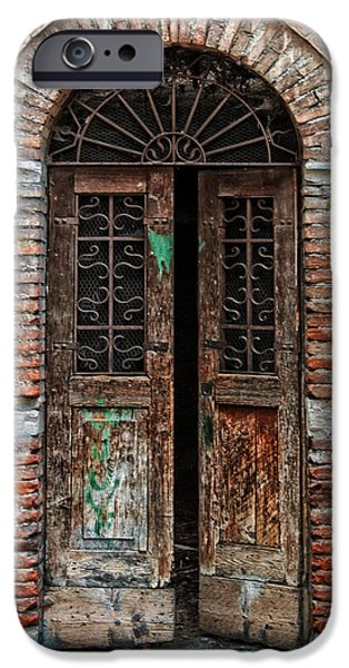 Antique Ironwork iPhone Cases - Old Italian Doorway iPhone Case by Mountain Dreams
