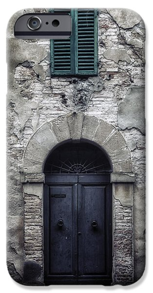 Wooden Door iPhone Cases - Old Italian House iPhone Case by Joana Kruse