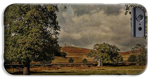 Old Digital iPhone Cases - Old John Bradgate Park Leicestershire iPhone Case by John Edwards