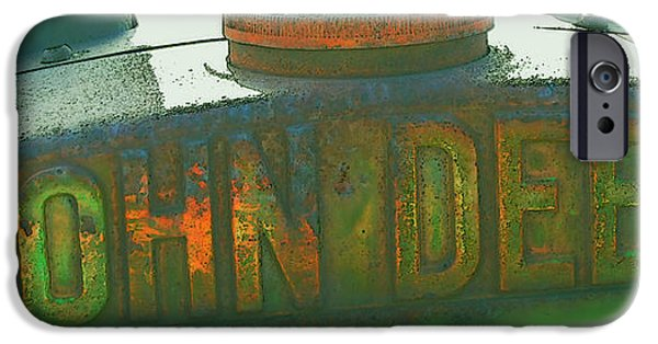 Close Up Mixed Media iPhone Cases - Old John Deere Logo iPhone Case by Kae Cheatham