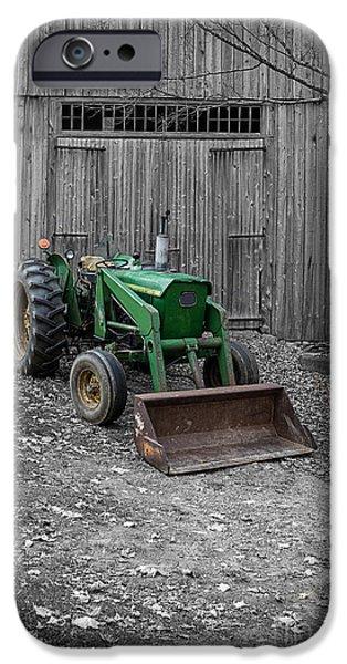 Old John Deere Tractor iPhone Case by Edward Fielding