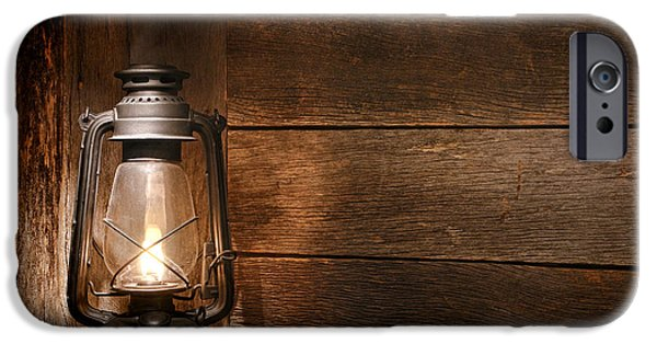 Rustic Barns iPhone Cases - Old Kerosene Light iPhone Case by Olivier Le Queinec