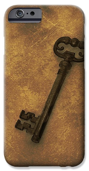 Antiques iPhone Cases - Old Key iPhone Case by Amanda And Christopher Elwell