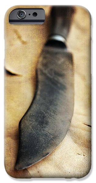Dirty iPhone Cases - Old Knife iPhone Case by Carlos Caetano